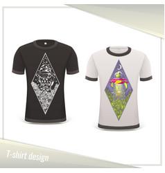 Alien tshirt design vector