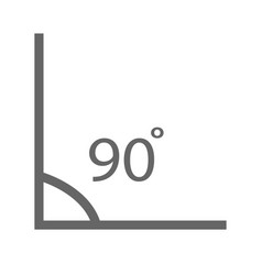 angle icon angle 90 degrees icon on white vector image