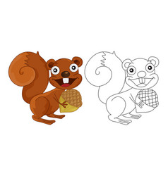 Animal outline for squirrel vector