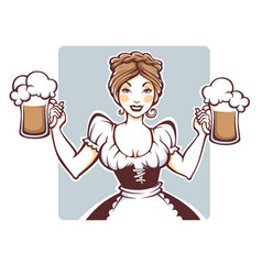 beauty and sexy german girl holding a draft vector image