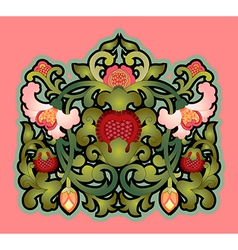Cartouche with floral decoration vector image vector image