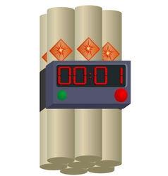 Dynamite with clockwork vector