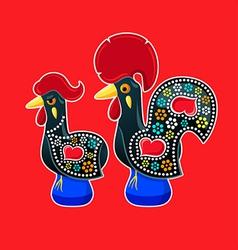 Galo and galinha de barcelos vector