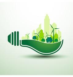 Green idea6 vector image vector image