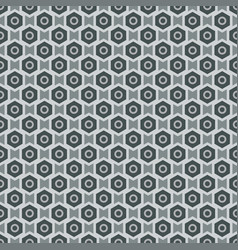 Grey seamless abstract mechanic cell vintage vector