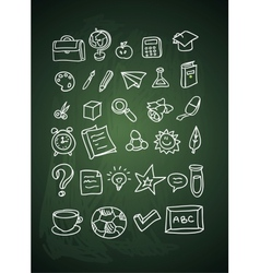 Hand drawn school doodles vector