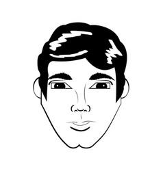 head man avatar comic vector image vector image