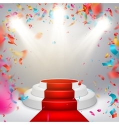Illuminated stage podium EPS 10 vector image vector image