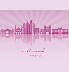 Montevideo in purple radiant orchid vector
