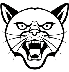 Panther Head tattoo vector image vector image