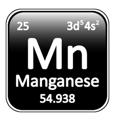 Periodic table element manganese icon vector