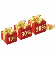 present sale vector image vector image