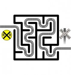 railroad maze vector image vector image