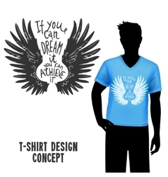 T-shirt design with lettering vector