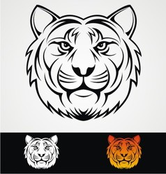 Tiger head tribal mascot vector