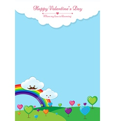 When my love is blooming background vector
