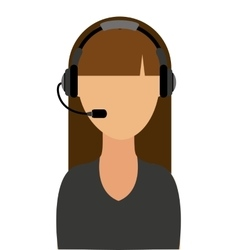 Call center agent worker icon vector
