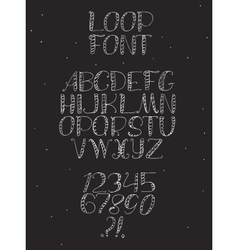 Freehand hand drawn white font with english vector
