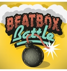 Beatbox battle type treatment design inscription vector