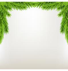 Border xmas frame with fir green christmas winter vector