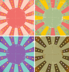 Set of of old sheets of paper vector