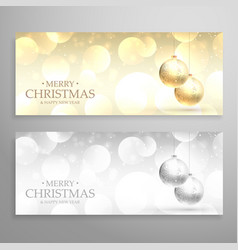 christmas festival banners or headers set in vector image