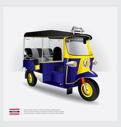 Thailand tuk tuk car vector
