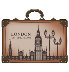 Suitcase london vector
