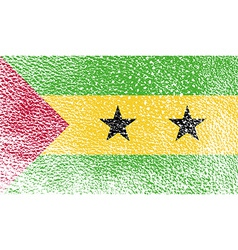 Flag of sao tome and principe with old texture vector