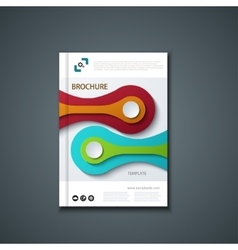 Flyer or banner brochure template design vector