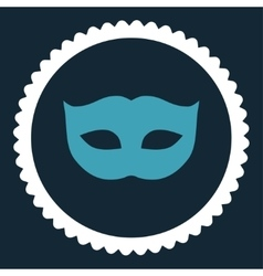Privacy mask flat blue and white colors round vector