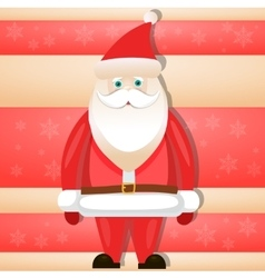 Cartoon santa claus smiling red christmas vector