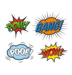 Comic speech bubbles 02 vector image