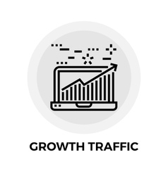 Growth traffic line icon vector