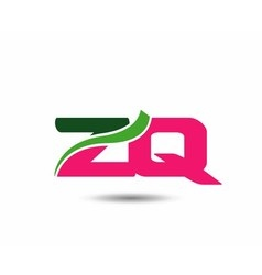Alphabet z and q letter logo vector
