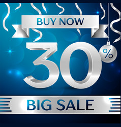 Big sale buy now thirty percent for discount vector