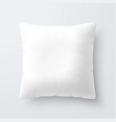 Blank white square pillow cushion vector