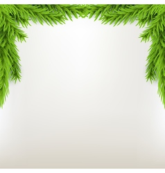 Border xmas frame with fir Green Christmas winter vector image vector image