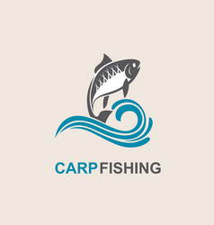 Carp fish icon vector