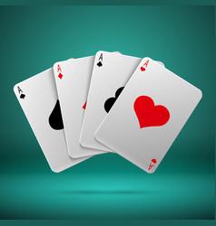 casino gambling poker blackjack concept vector image vector image