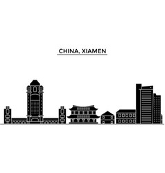 china xiamen architecture urban skyline with vector image vector image