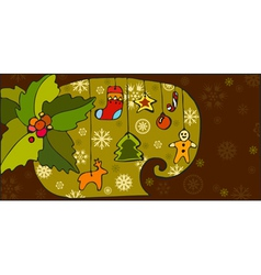Christmas Toy Background vector image vector image