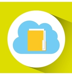 cloud technology folder file connection design vector image