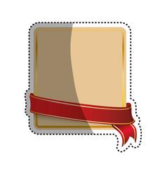 decorative banner emblem vector image vector image