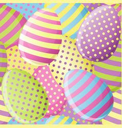 Easter egg seamless pattern vector