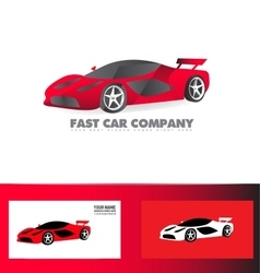 Fast sport car logo red vector image vector image