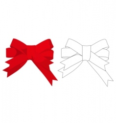 gift bow vector image vector image