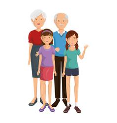 Happy family icon vector
