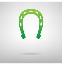 Horseshoe black green icon vector image