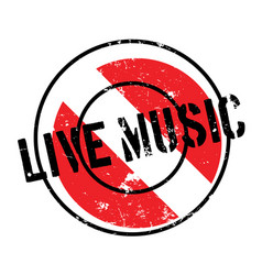 Live music rubber stamp vector